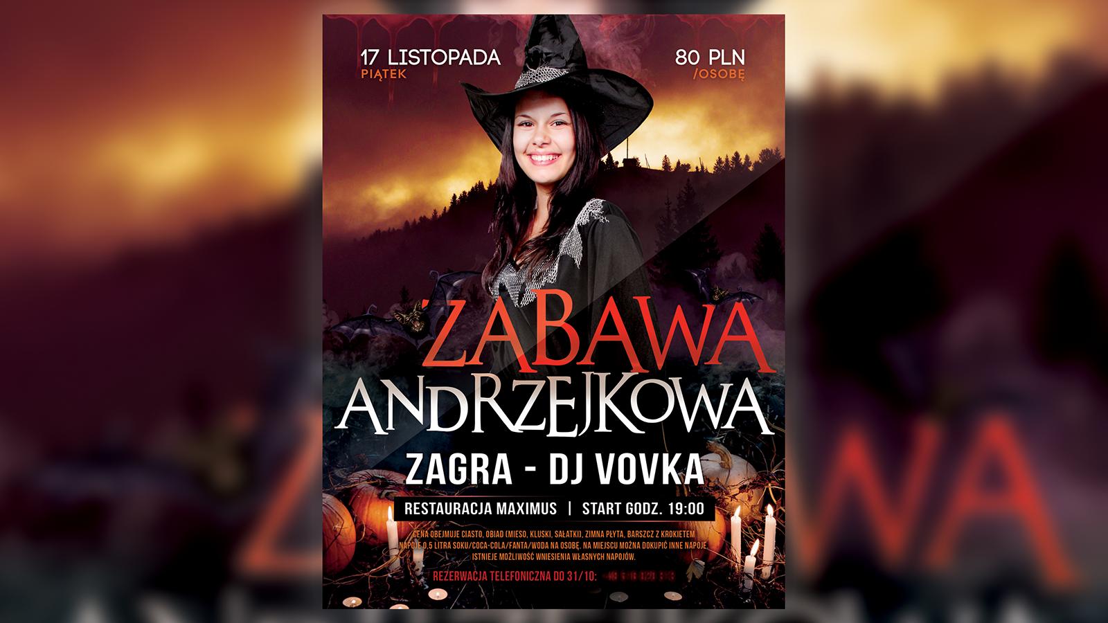 Plakat - Zabawa Andrzejkowa